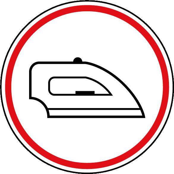 Symbol Bügeleisen
