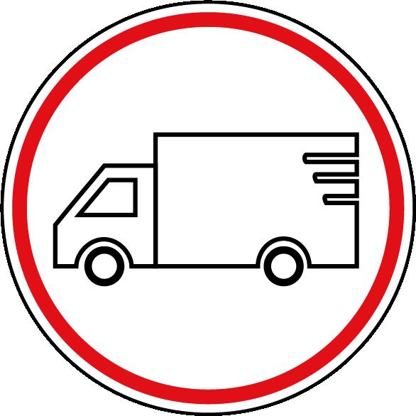 Symbol Lieferwagen
