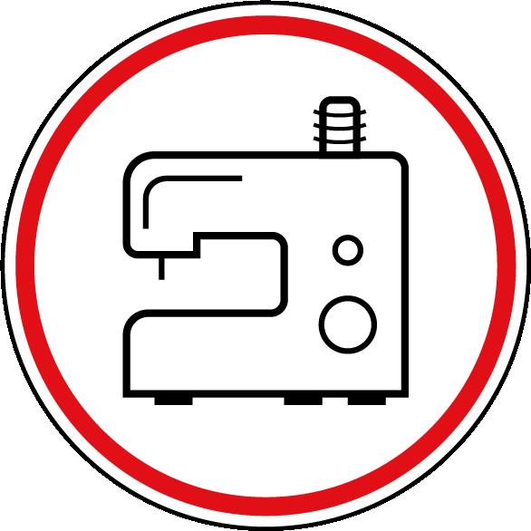 Symbol Nähmaschine