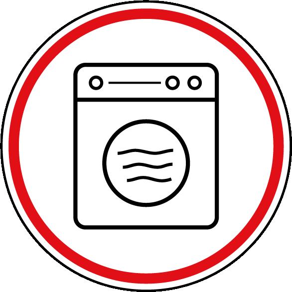 Symbol Waschmaschine